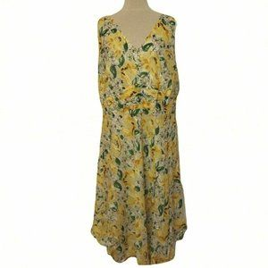 Robbie Bee Floral Cotton Dress Like New- Size 18W